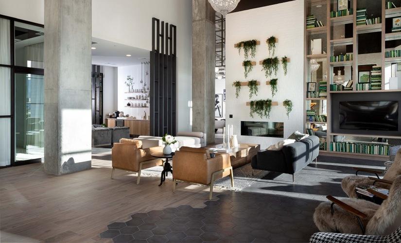 Lounge w/ Fireplace